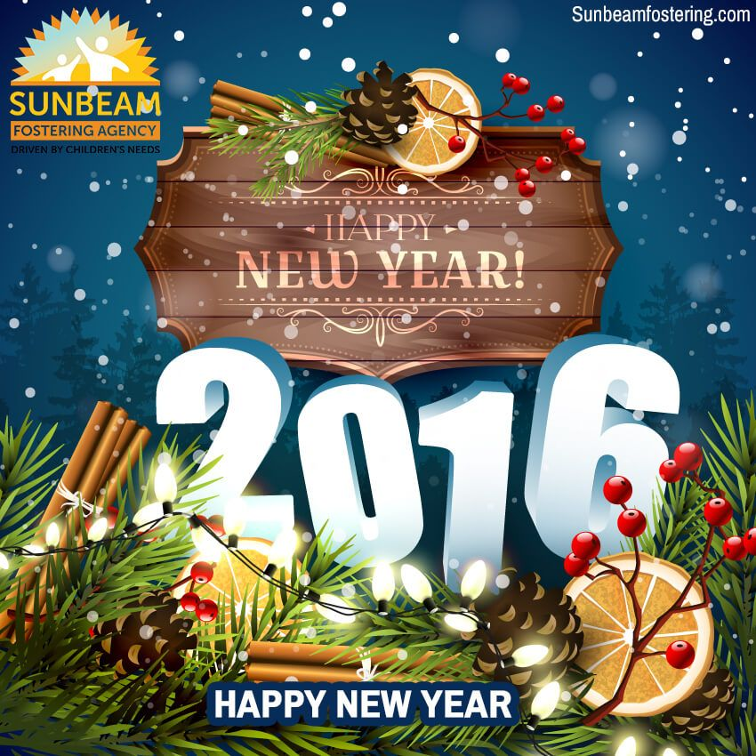 sunbeam fostering wishes you a very happy new year we wish you all the very best for new year 2016 may love laugh happiness stays with you forever