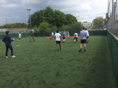 Promoting sports & exercise with a 5-a-side football with our looked after children in Croydon.