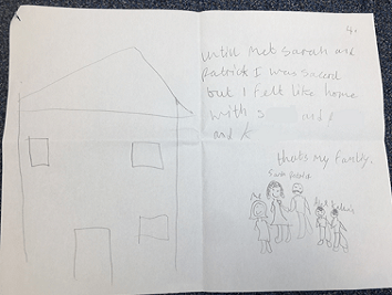 A piece of writing from one of our children