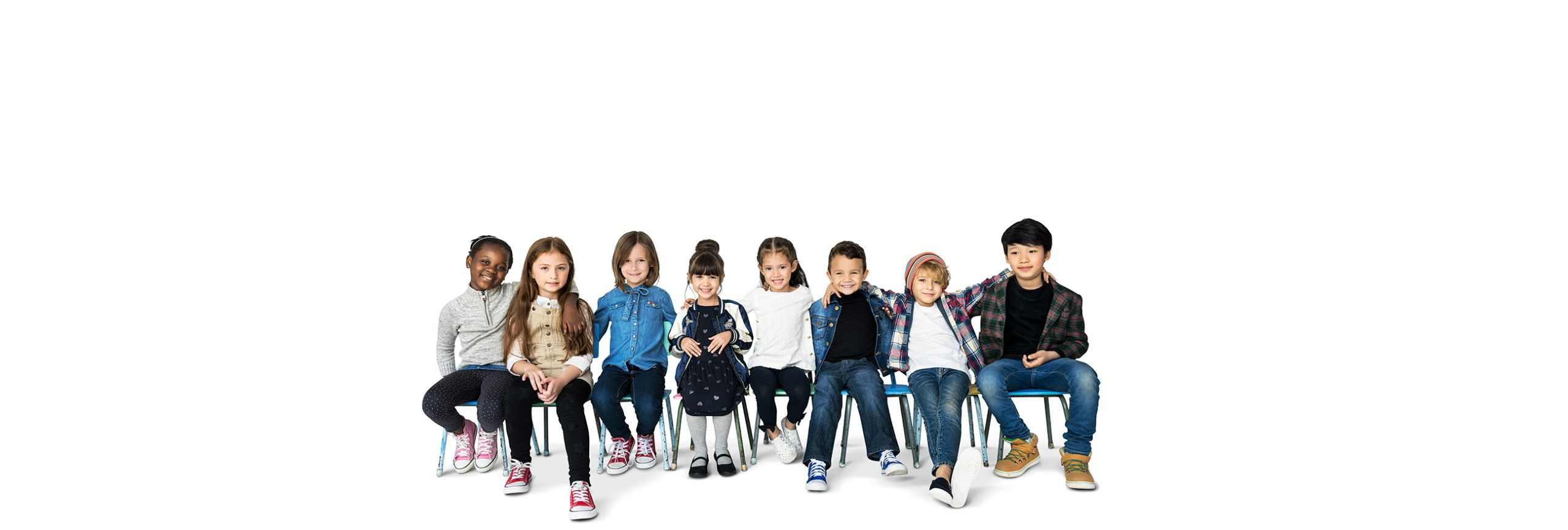 group-kids-sitting-togetherness-happiness-smiling-white-blackground